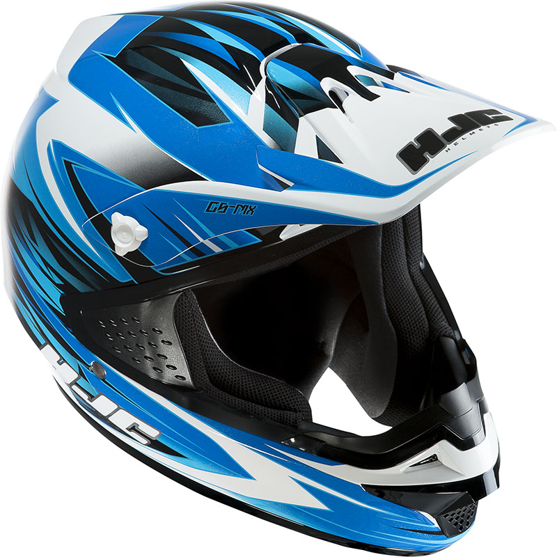 Casco cross HJC CSMX Shattered MC2