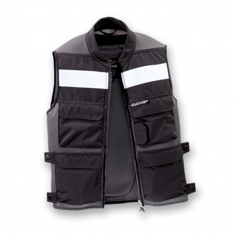 Gilet moto Clover Plug and Play Grigio