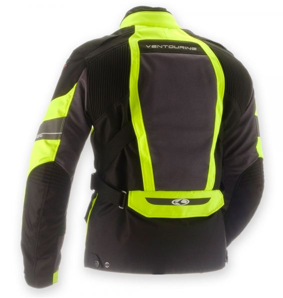 Motorcycle Airbag Jacket Clover Ventouring WP Black Yellow