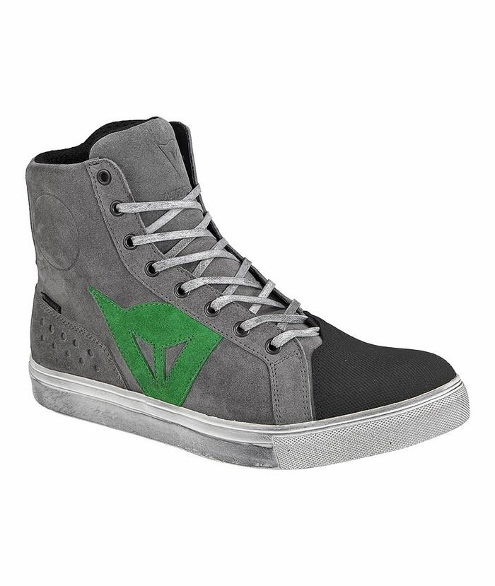 Street Biker Boots Dainese D-WP Gray Green
