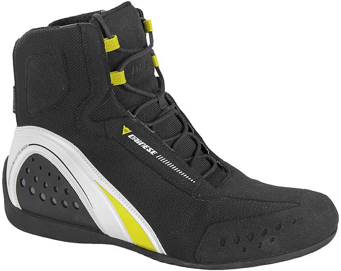 Dainese Motorshoe D-WP shoes Black White Yellow