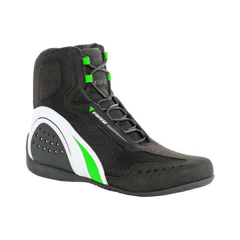 Scarpe moto Dainese Motorshoe Air Nero Bianco Verde