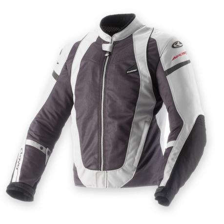 Motorcycle jacket women summer Clover AirJet 3 Lady Grey