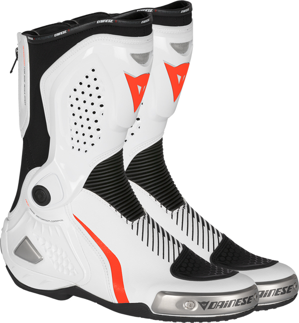 Dainese Torque Out RS racing boots white-black-red fluo