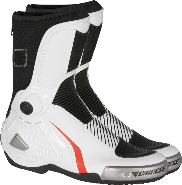 Dainese Torque RS IN racing boots white-black-red fluo