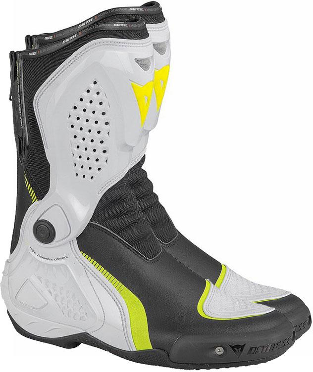 Stivali moto Dainese TR-Course Out nero bianco giallo fluo