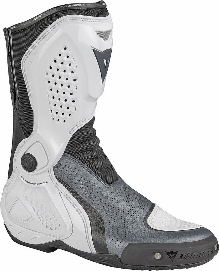 Motorcycle boots Dainese TR-Out Course Air Anthracite White Blac