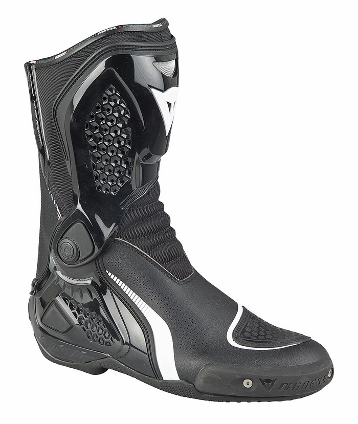 Motorcycle boots Dainese D-TR-Course Out WP Black White