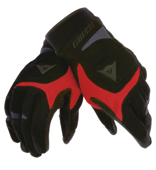 Dainese Desert Poon motorcycle gloves black-red-anthracite