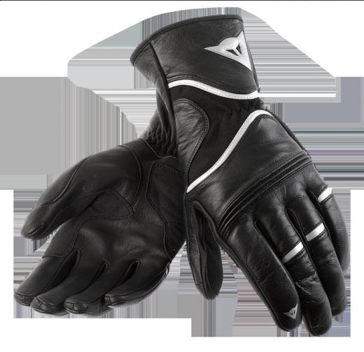 Guanti moto Dainese RS2 nero-argento-nero