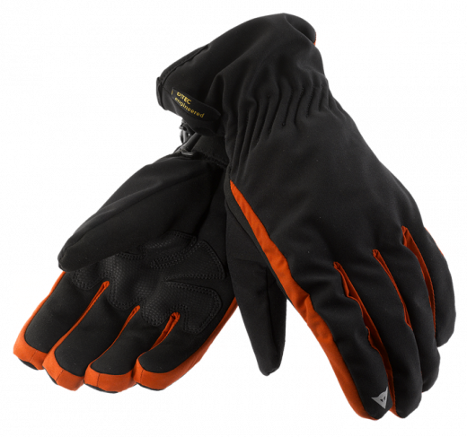 Dainese Cardiff D-Dry motorcycle gloves black-red