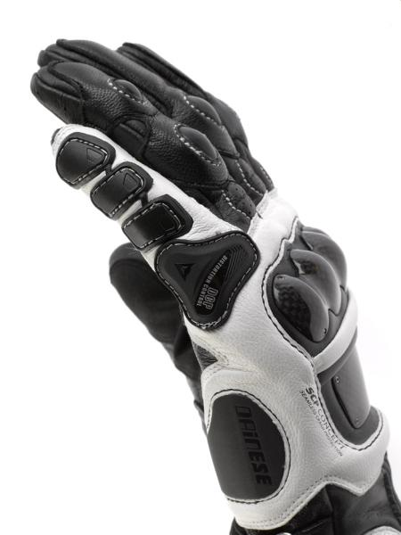 Dainese Steel Core Carbon motorcycle gloves black-white-red