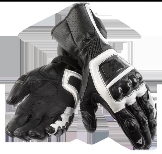 Guanti moto Dainese Steel Core Carbon nero-bianco-nero