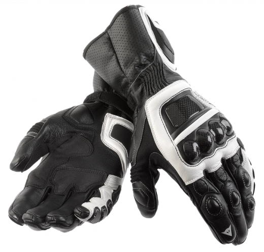 Dainese Steel Core Carbon motorcycle gloves black-white-black