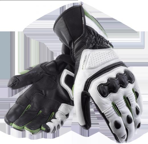 Guanti moto Dainese Pro Carbon bianco-nero-verde
