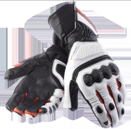 Guanti moto Dainese Pro Carbon bianco-nero-rosso