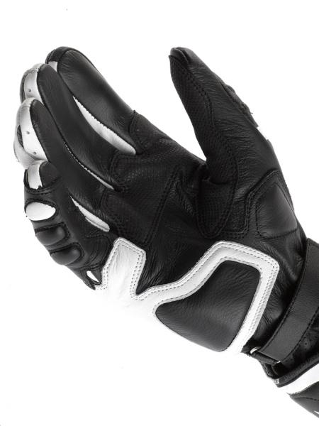 Dainese Carbon Cover motorcycle gloves white-black-black