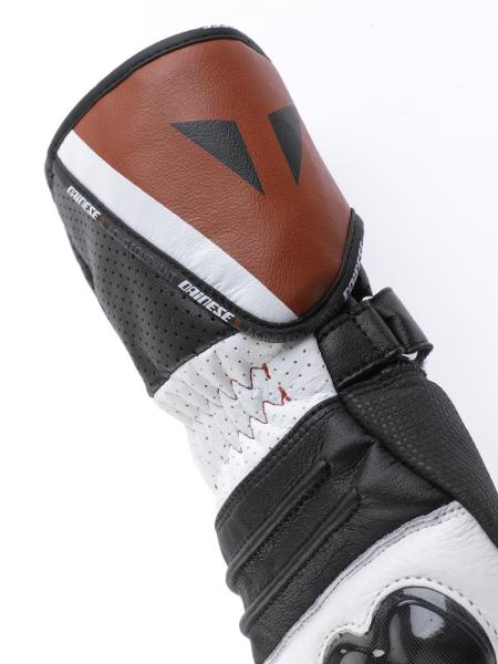 Dainese Redgate motorcycle gloves white-black-red