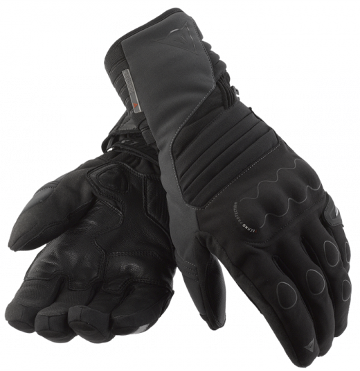 Dainese Scout Gore-Tex motorcycle gloves black-anthracite-black