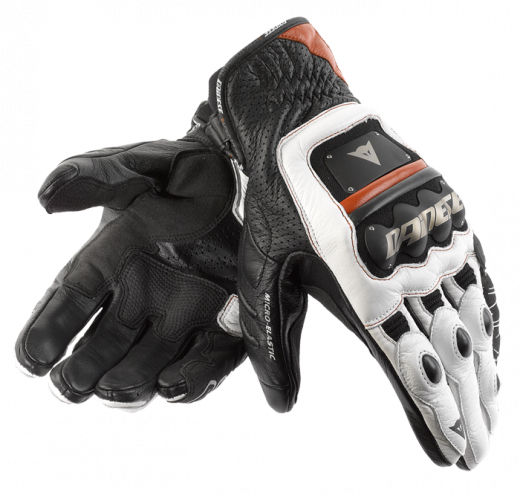 Dainese 4-Stroke motorcycle gloves black-white-red