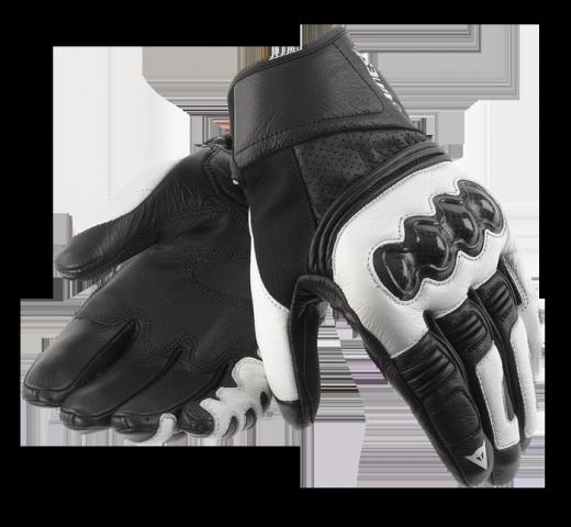Guanti moto Dainese Ricochet nero-bianco-nero