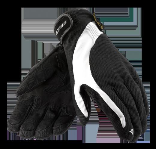 Dainese Savana D-Dry motorcycle gloves black-white-black