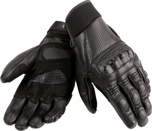Dainese Sickle leather summer gloves black