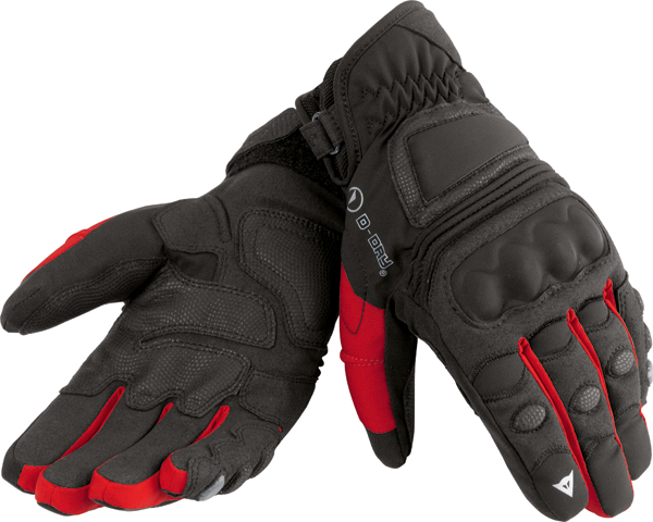 Dainese Clutch D-Dry motorcycle gloves black-red