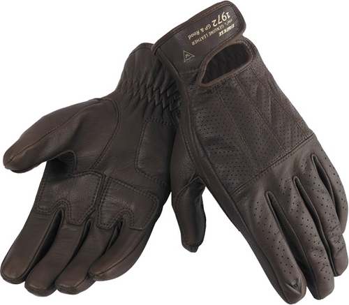 Dainese Dakota leather summer gloves brown