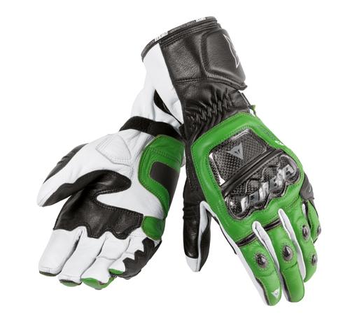 Guanti moto Dainese Druids verde-nero-bianco