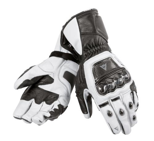Dainese Druids motorcycle gloves white-black-white