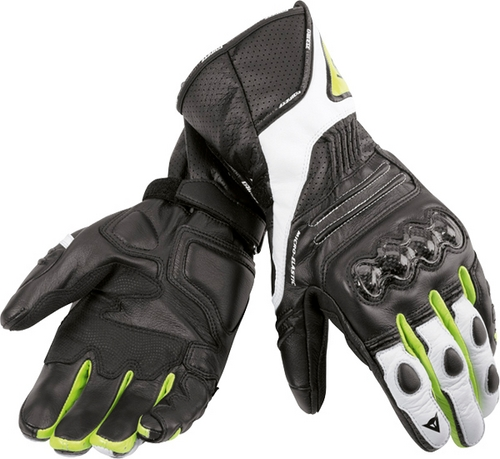 Dainese VR46 Sport motorcycle gloves black-yellow fluo