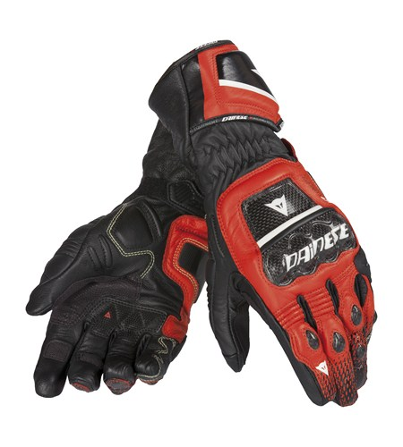 Dainese Druids ST leather gloves black-red-white