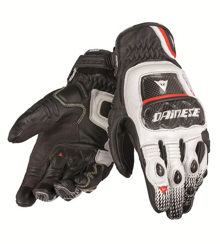 Dainese Druids S-ST leather gloves black-white-red
