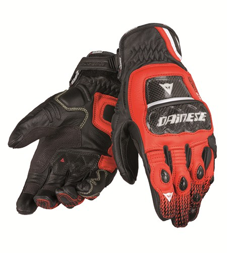 Dainese Druids S-ST leather gloves black-red-white