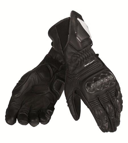 Dainese Carbon Cover ST leather gloves black-black-black