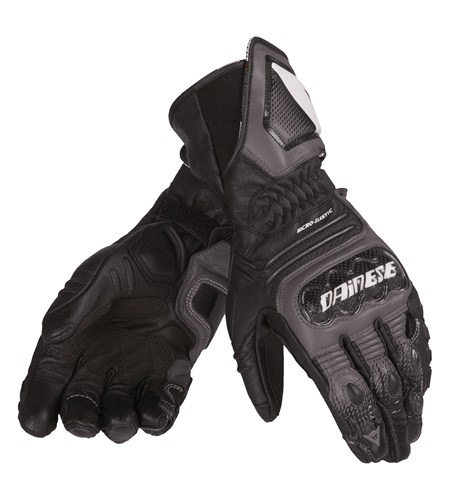 Dainese Carbon Cover ST leather gloves black-anthracite-white