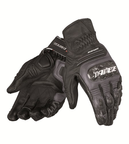 Dainese Carbon Cover S-ST leather gloves black-anthracite-white