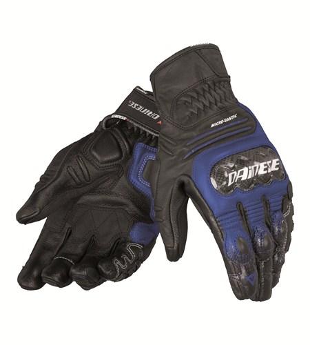 Guanti moto pelle Dainese Carbon CoverS-ST nero blu bianco