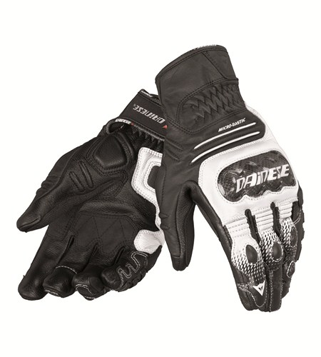 Dainese Carbon Cover S-ST leather gloves black-white-black