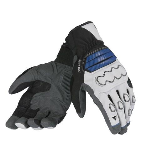 Guanti moto Dainese Veleta Gore-Tex X-Traffit silver nero blu