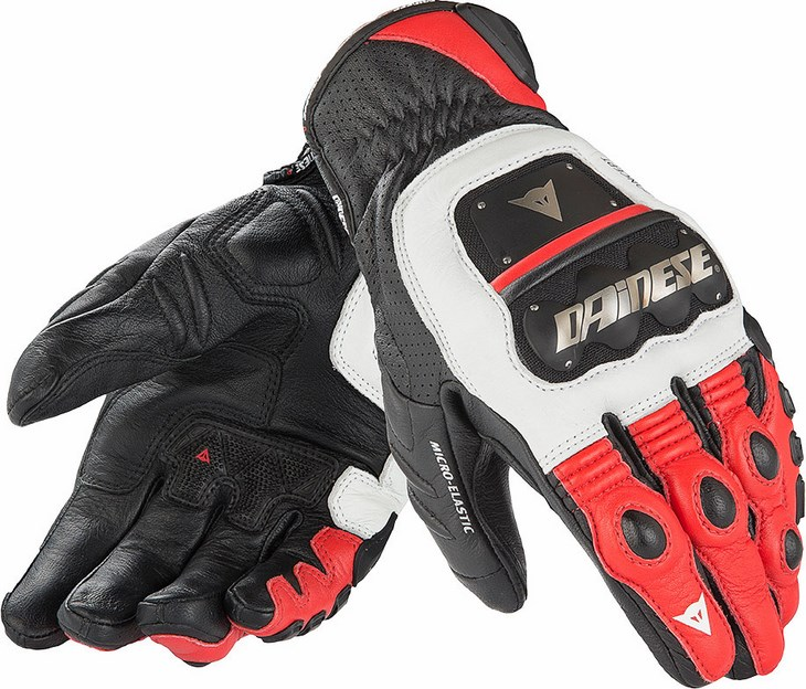 Dainese 4 Stroke Evo gloves white red black