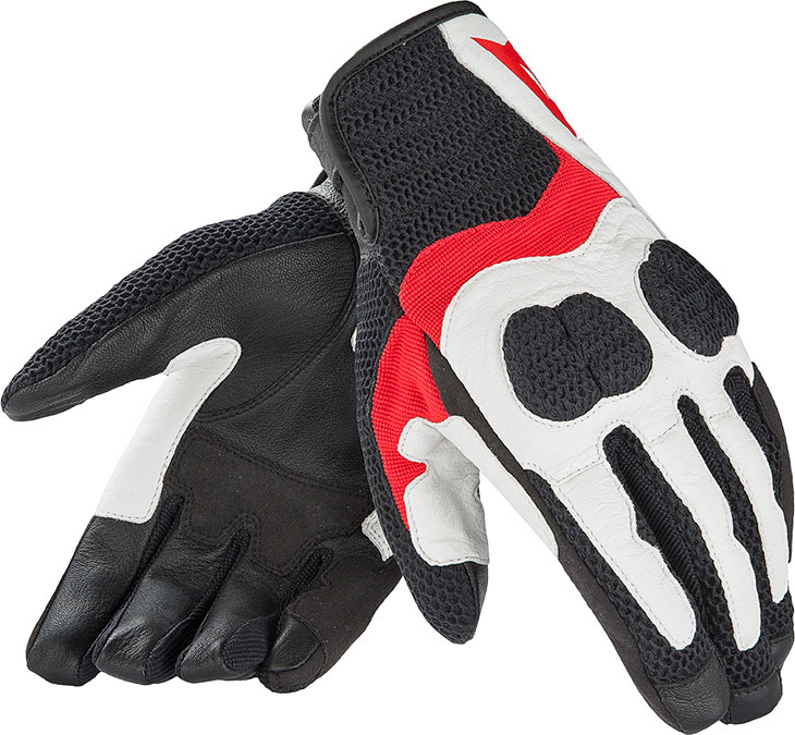 Dainese Air Mig summer motorcycle gloves white rede black