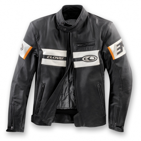 Leather motorcycle jacket Clover Blackhill Black Ice