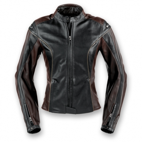 Women's leather motorcycle jacket Clover Venice Black Dark B