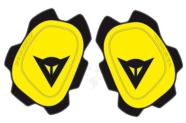 Dainese Knee Sliders B60D11 yellow fluo black