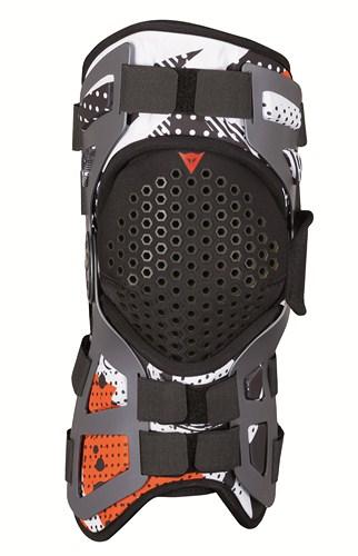 Supporto artic. ginocchio Tutore Dainese nero bianco arancio