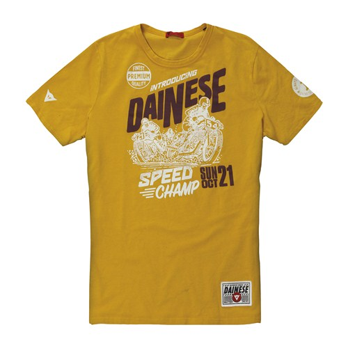 Dainese Speed Champ T-Shirt yellow