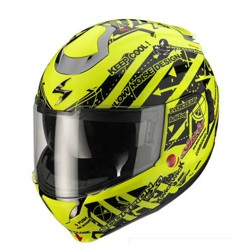 Scorpion Exo 900 Air Signal flip off helmet Neon Yellow