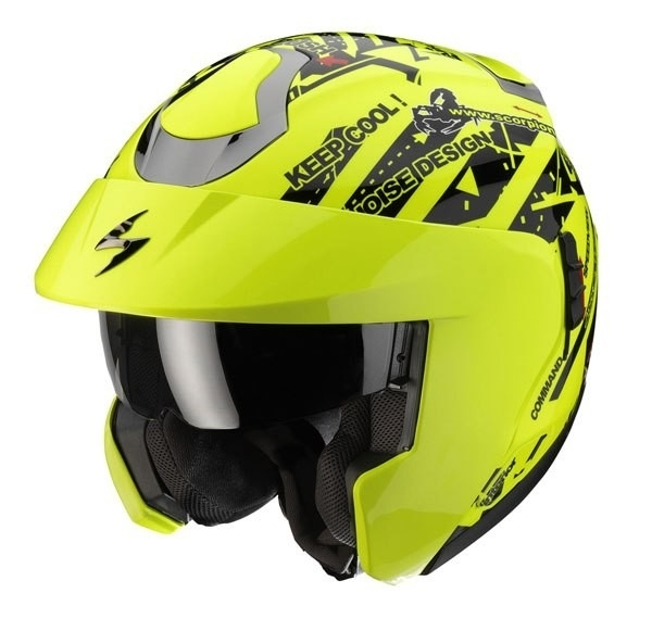 Casco modulare Scorpion Exo 900 Air Signal Giallo Neon